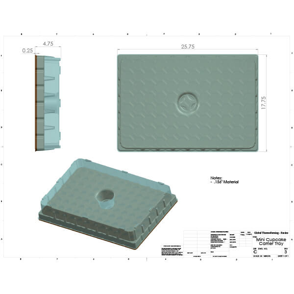 Thermoformed Tray